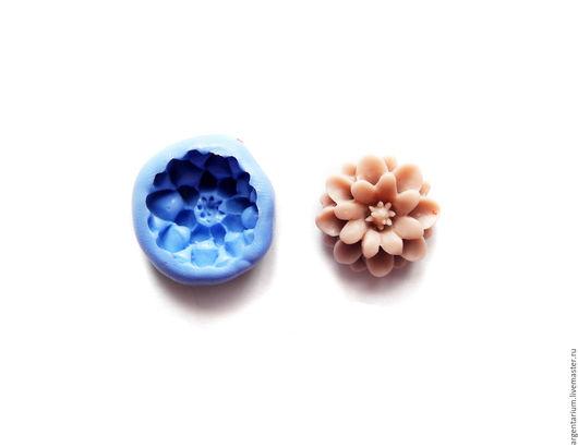 Для украшений ручной работы. Ярмарка Мастеров - ручная работа. Купить Хризантема (М) силиконовый молд. Handmade. Тёмно-синий