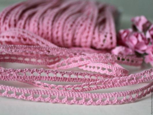 Шитье ручной работы. Ярмарка Мастеров - ручная работа. Купить Кружево хлопок розовое. Handmade. Розовый, хлопковое кружево