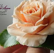 Украшения handmade. Livemaster - original item Brooch with a rose made of polymer clay (cold porcelain). Handmade.