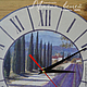 Часы для дома ручной работы. Заказать Часы ЛАВАНДОВОЕ ПОЛЕ. Магия вещей (OlgaBIRD). Ярмарка Мастеров. Часы интерьерные, нежный