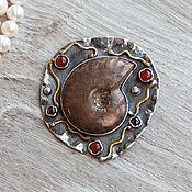 Украшения handmade. Livemaster - original item Pendant with a large ammolite (636). Handmade.
