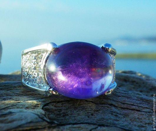 Кольца ручной работы. Ярмарка Мастеров - ручная работа. Купить Перстень с аметистом, серебро 925 пробы. Handmade. Драгоценные камни