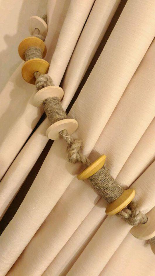 Текстиль, ковры ручной работы. Ярмарка Мастеров - ручная работа. Купить Подхваты для штор. Handmade. Подхват для штор, шторы для гостиной