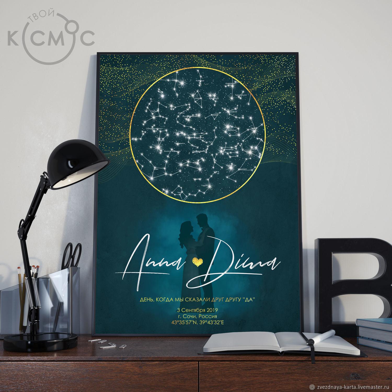 Оригинальный подарок Звёздная карта Амуаж, Подарки, Екатеринбург, Фото №1