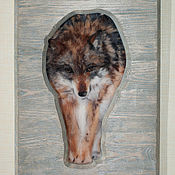 Картины и панно ручной работы. Ярмарка Мастеров - ручная работа Волк. Handmade.