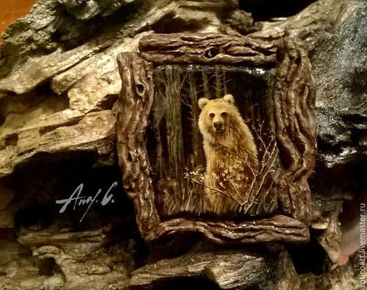"""Кулоны, подвески ручной работы. Ярмарка Мастеров - ручная работа. Купить Кулон """"Хозяин леса"""". Handmade. Лес, мишка"""
