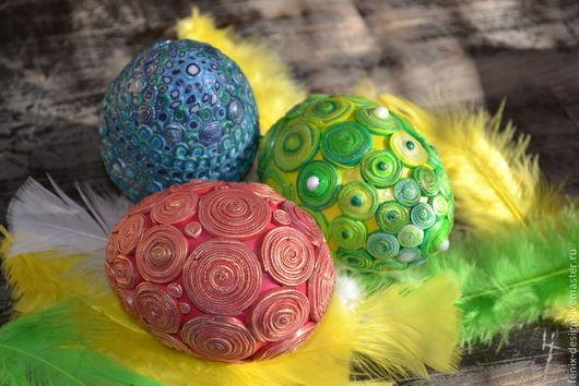 Яйца ручной работы. Ярмарка Мастеров - ручная работа. Купить Яйца Пасхальные. Handmade. Яйцо, декор дома