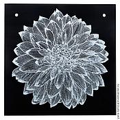 """Картины и панно ручной работы. Ярмарка Мастеров - ручная работа Панно """"Цветок зимы"""". Handmade."""