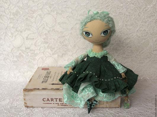 Коллекционные куклы ручной работы. Ярмарка Мастеров - ручная работа. Купить Эля Изумруд и Мята. Handmade. Мятный, подарок девушке