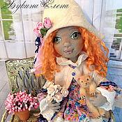 Куклы и игрушки ручной работы. Ярмарка Мастеров - ручная работа Марьяночка,шарнирная текстильная кукла.. Handmade.