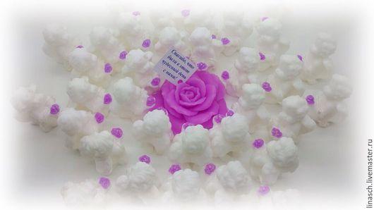Мыло ручной работы. Ярмарка Мастеров - ручная работа. Купить Ангелочек с розой. Handmade. Фиолетовый, комплимент гостям, жених и невеста