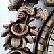 Часы для дома ручной работы. Заказать Настенные кварцевые часы в резной буковой раме. Сергей. Ярмарка Мастеров. Деревянный, бук