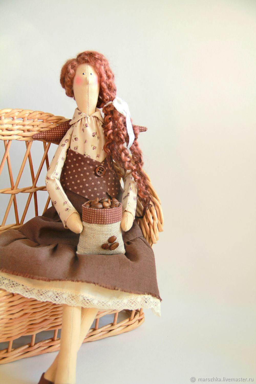 Coffee fairy Tilda brown coffee angel, Tilda Dolls, Kolomna,  Фото №1