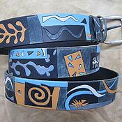 Аксессуары handmade. Livemaster - original item The NAUTICAL THEME belt leather. Handmade.