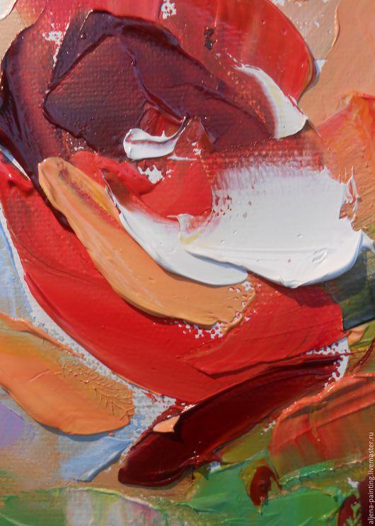 """Картины цветов ручной работы. Ярмарка Мастеров - ручная работа. Купить Картина маслом """"Настроение цвета ЛЕТА"""",30х40 цветы, розы. Handmade."""