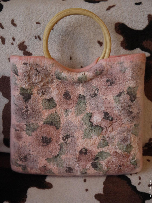 Женские сумки ручной работы. Ярмарка Мастеров - ручная работа. Купить Romance. Handmade. Цветы, розовый, цветочный, шерсть 100%