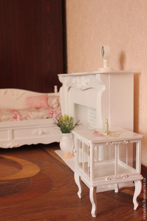 Кукольный дом ручной работы. Ярмарка Мастеров - ручная работа. Купить Белая гостиная (1:4). Handmade. Мебель для кукол