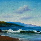 Картины и панно handmade. Livemaster - original item Painting seascape Lonely wave-2 oil painting. Handmade.