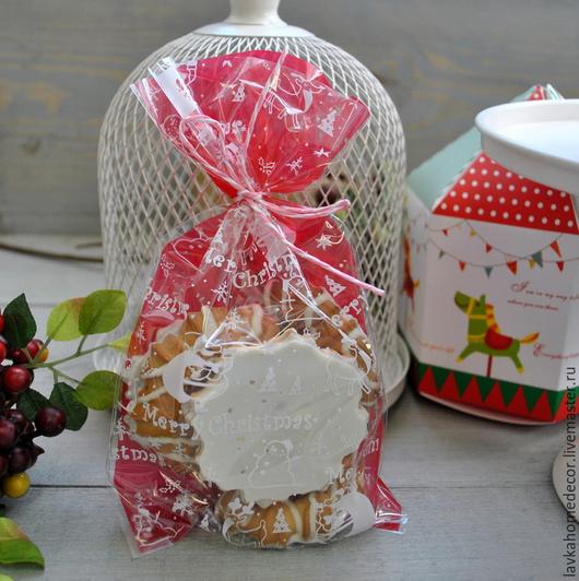Пакет MerryChristmas, красный 20х12см, 782