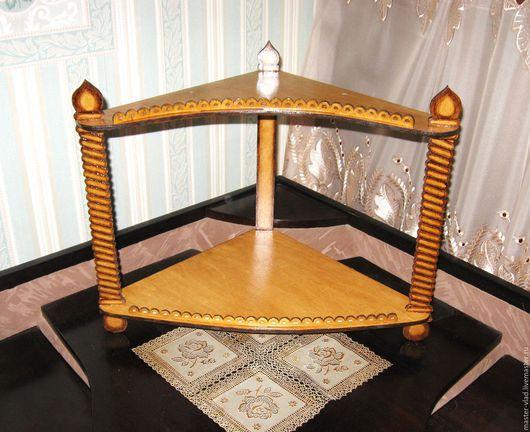 Мебель ручной работы. Ярмарка Мастеров - ручная работа. Купить Авторская полочка под иконы. Handmade. Для дома и интерьера