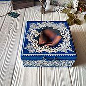 "Для дома и интерьера handmade. Livemaster - original item Шкатулка для украшений ""Изморозь"". Handmade."
