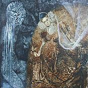 """Картины и панно ручной работы. Ярмарка Мастеров - ручная работа картина маслом  """"Осень и Зима"""". Handmade."""