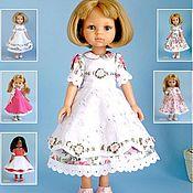 Материалы для творчества handmade. Livemaster - original item Patterns: Dresses and aprons with embroidery for Paola Reina dolls.Journal pdf. Handmade.