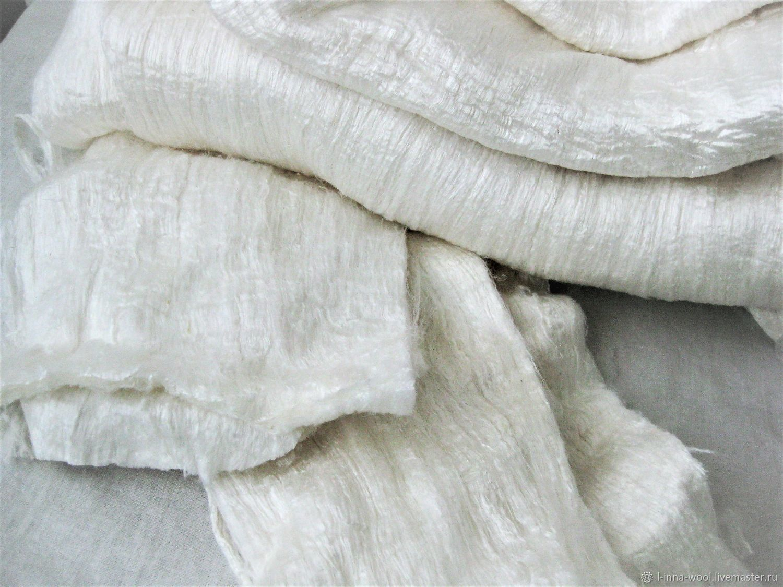 Шелковый лэпс шелковое одеяло на вес, Материалы для валяния, Новосибирск,  Фото №1