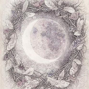 Картины и панно ручной работы. Ярмарка Мастеров - ручная работа Когда я смотрю на Луну. Handmade.