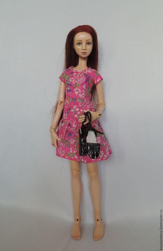 Коллекционные куклы ручной работы. Ярмарка Мастеров - ручная работа. Купить Рут. Handmade. Комбинированный, шарнирная кукла, флюмо