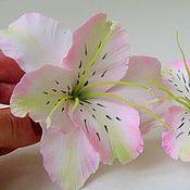 Украшения ручной работы. Ярмарка Мастеров - ручная работа Нежные лилии - заколка для волос. Handmade.