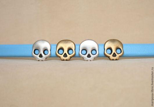 Для украшений ручной работы. Ярмарка Мастеров - ручная работа. Купить Бусины для 10х7 череп, античное золото. Handmade. Золотой