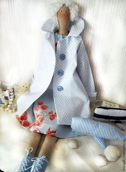 Куклы Тильды ручной работы. Ярмарка Мастеров - ручная работа. Купить Тильда на побережье. Handmade. Голубой, тильда на побережье