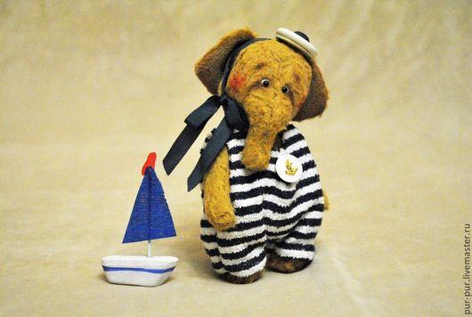 Мишки Тедди ручной работы. Ярмарка Мастеров - ручная работа. Купить Плюм (я вырасту и стану капитаном). Handmade. Желтый
