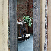 Для дома и интерьера handmade. Livemaster - original item Mirror in a frame made of barn boards. Handmade.