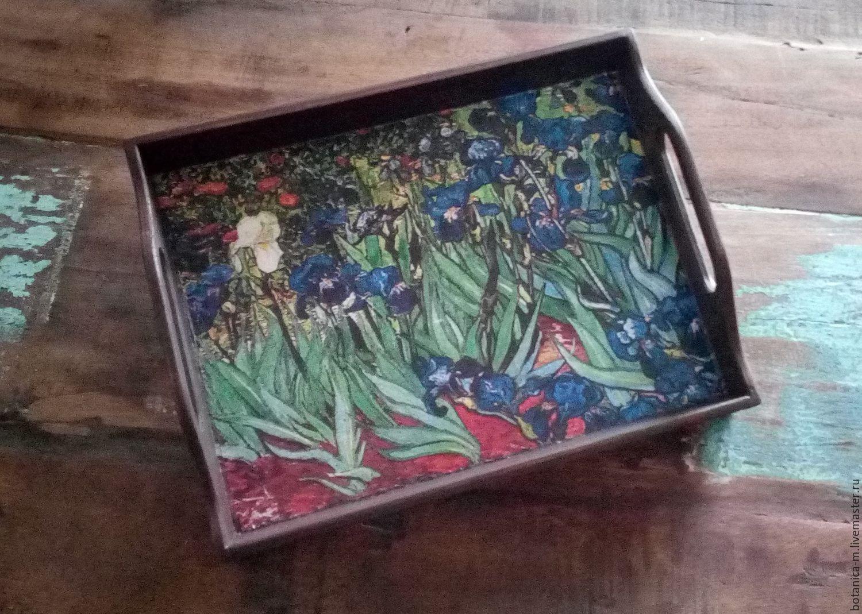 'Irises' tray, Trays, St. Petersburg,  Фото №1