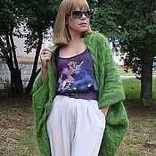 """Одежда ручной работы. Ярмарка Мастеров - ручная работа Авторское пончо вязаное """"Green""""( трансформер). Handmade."""