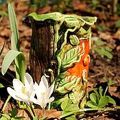 Вазы ручной работы. Ярмарка Мастеров - ручная работа Керамическая ваза Лесной цветок. Handmade.
