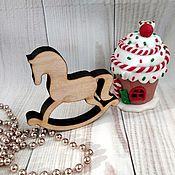 Материалы для творчества handmade. Livemaster - original item Rocking horse . Figure for coloring 10 cm.. Handmade.