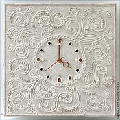 """Для дома и интерьера ручной работы. Ярмарка Мастеров - ручная работа """"Нежность для Королевы"""" часы из песка настенные. Handmade."""