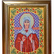 Картины и панно handmade. Livemaster - original item Icon - Holy Larissa. Handmade.