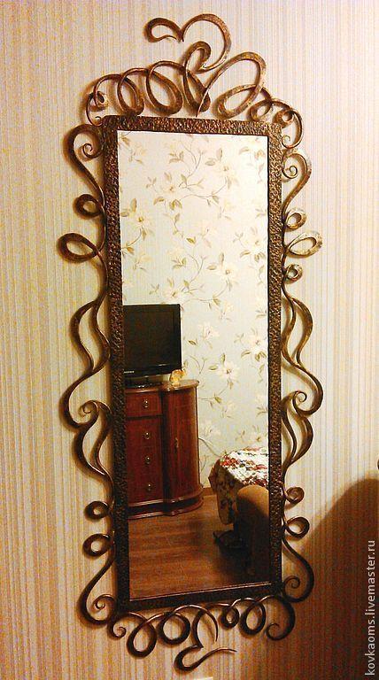 """Зеркала ручной работы. Ярмарка Мастеров - ручная работа. Купить Зеркало """"Модерн"""". Handmade. Зеркало, художественная ковка, подарок, модерн"""