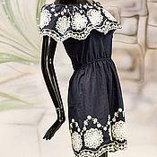"""Одежда ручной работы. Ярмарка Мастеров - ручная работа Платье с вышивкой ришелье """"Летняя красотка"""" в любом цвете на заказ. Handmade."""