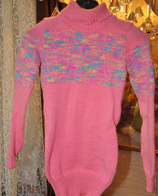 Одежда для девочек, ручной работы. Ярмарка Мастеров - ручная работа. Купить Платье вязаное. Handmade. Розовый, вязаное платье
