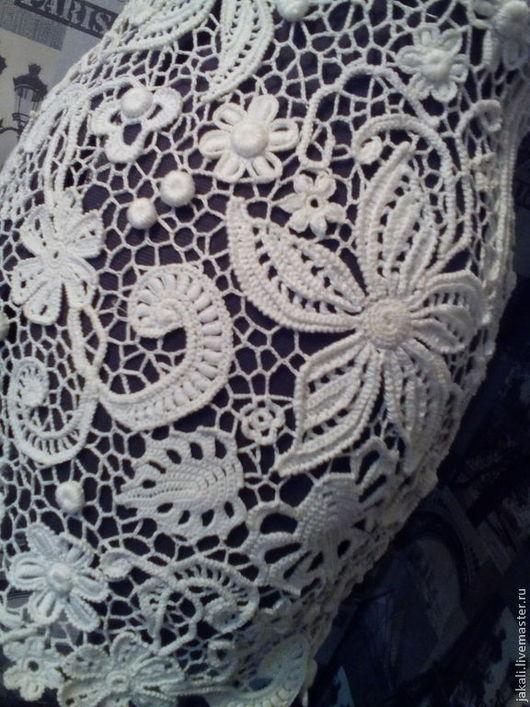 Платья ручной работы. Ярмарка Мастеров - ручная работа. Купить Белое платье крючком DREAM. Handmade. Белый, платье вязаное
