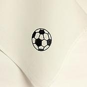 """Сувениры и подарки ручной работы. Ярмарка Мастеров - ручная работа Платок батистовый """"Футбольный мяч"""". Handmade."""
