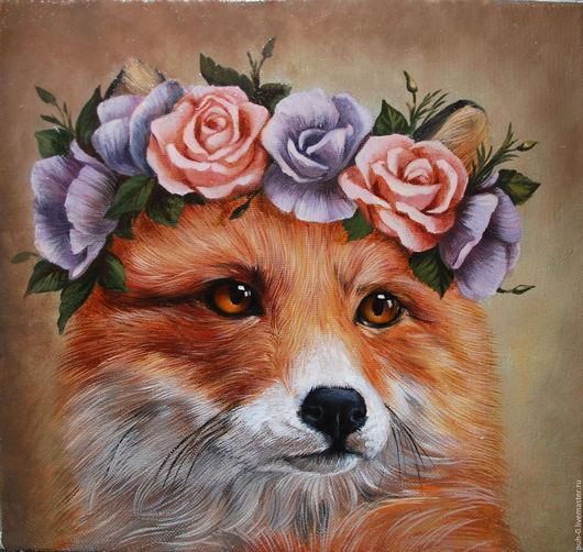 Животные ручной работы. Ярмарка Мастеров - ручная работа. Купить портрет лисы. Handmade. Рыжий, лиса, портрет по фото на заказ