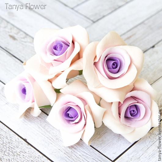Заколки ручной работы. Ярмарка Мастеров - ручная работа. Купить Шпильки с розами с переходом цвета - средние. Handmade. Украшение для волос