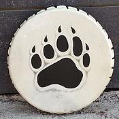 Музыкальные инструменты handmade. Livemaster - original item The bear`s paw. Tambourine leather. 30cm. Handmade.