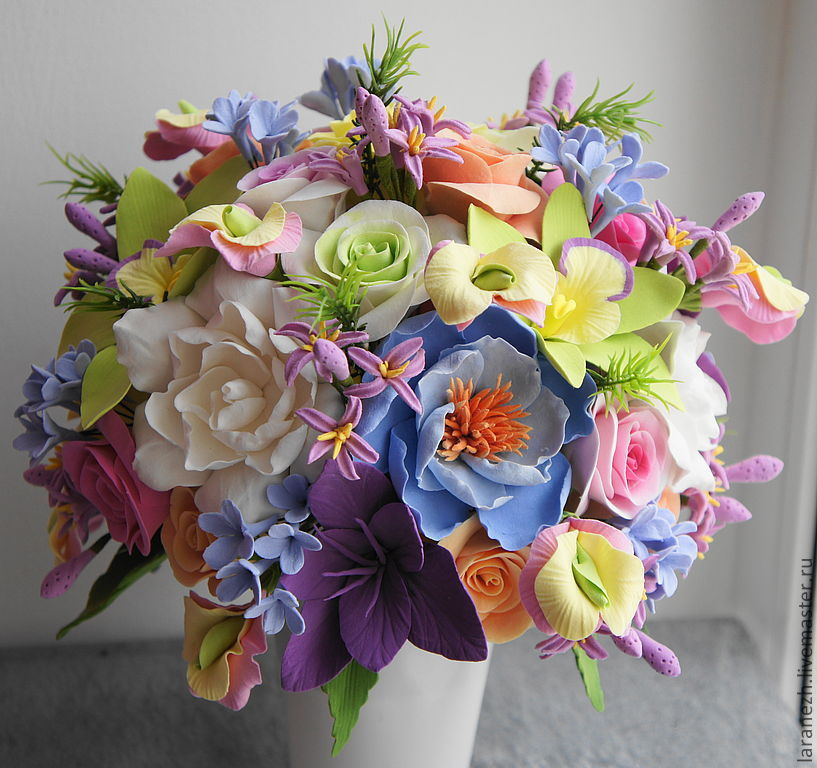 красивые нежные букеты цветов фото